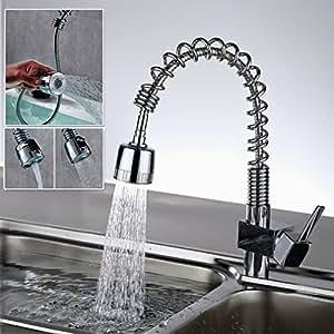 Auralum 360 rubinetto di lavabo con canna alta flessibile doccetta estraibile a cascata - Bricoman rubinetti cucina ...