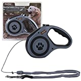 Marko Pet Accessories Retractable Dog Lead Flexi Locking Extending Leash Comfort Padded Large 8M 35KG (Grey)