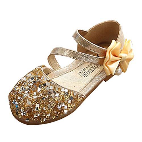 Covermason Tanzschuhe Kleinkind Schuhe Kinderschuhe Mädchen Kristall einzelne Schuhe Ballerinas T-Strap Schuhe Lederschuhe Lauflernschuhe Mädchen Prinzessin Schuhe