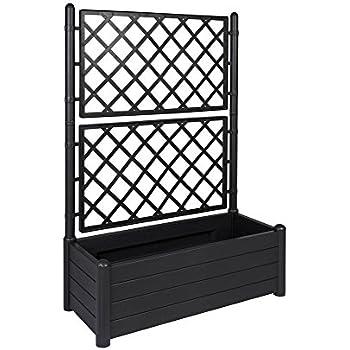 xl rankgitter spalier mit pflanzkasten aus robustem. Black Bedroom Furniture Sets. Home Design Ideas