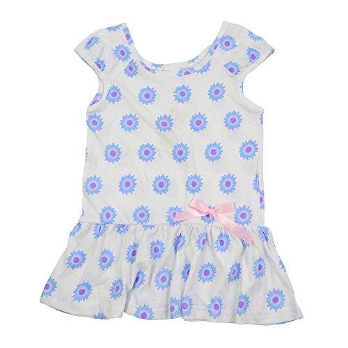 Guancheng ragazze Blu Rosa Stampa Dot bambini del partito Abbigliamento per bambini Sundress Dimensioni 4-9 (Petite Denim A-gonna)