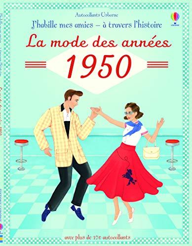 J'habille mes amies - à travers l'Histoire - La mode des années 1950 - Autocollants Usborne par Megan Cullis
