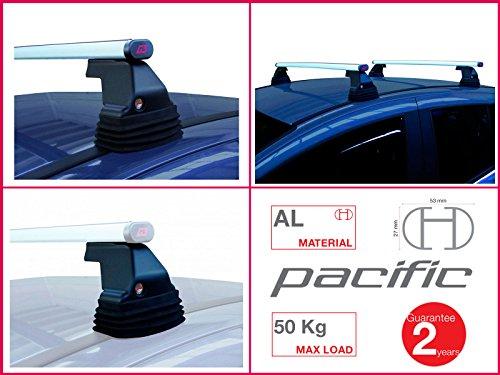 Paar Dachträger G3Pacific Aluminium 1,1m mit Sockel Fix Point