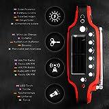 Duronic Apex Radio AM / FM – Solarenergie und USB-Ladegerät – Radiowecker / Taschenlampe / Ideal für Camping, Wandern, zu Hause oder im Garten / Aufladbare Kurbel - 4