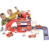 #10: O&B Racing Track with Toy Cars Racing Track 29 PCs Parking Garage for Kids Toy
