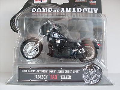 """Sons of Anarchy """" JAX """", 2003 Harley Davidson Dyna Super Glide Sport 1:18 von Maisto"""