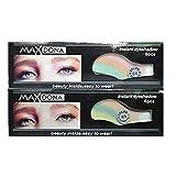 SMILEQ® 6 Paar Lidschatten Aufkleber Instant Eye Shadow temporäre Makeup Eye Tattoo (6 Eye, Mehrfarbig)