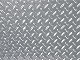Aluminium-Optik-Fußmatte Doppelkreuzblech 1100 x 650 mm ~~~~~ schneller Versand innerhalb 24 Stunden ~~~~~