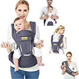 Viedouce Baby Carrier Ergonomic for Newborn,Pure Cotton Front Back Child Carrier with Detachable