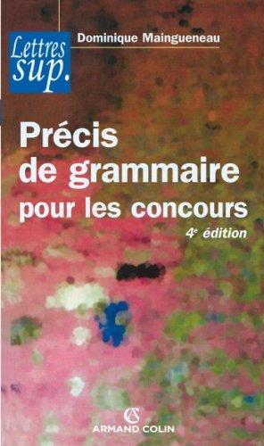 Précis de grammaire pour les concours (...
