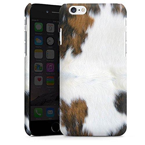 Apple iPhone 7 Plus Tasche Hülle Flip Case Kuh Fell Kuh Look Premium Case matt