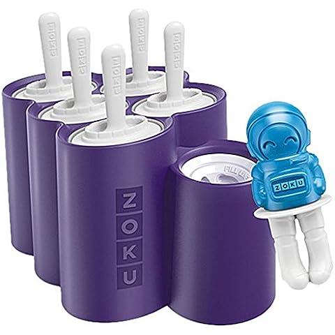 Zoku Espacio pops Slow pops Rocket y astronauta moldes de hielo del polo con guardias de goteo