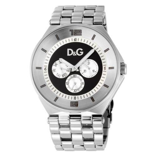 Dolce & Gabbana D&G - Reloj unisex con correa de acero inoxidable, color negro