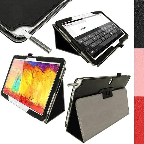 igadgitz Negro 'Portfolio' Eco-Piel Case Cover Funda Carcasa para Samsung Galaxy Note 10.1