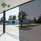 Lifetree One Way Mirror Window Film Heat Reducing Film Solar Control Glass Film Reflective Sticker Sun Block Film for Home and Office 60x200cm
