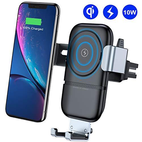 VANMASS Handyhalterung Auto Wireless Charger Auto Lüftung Kfz Handy Halterung 10W Qi Induktive Ladestation fürs Auto Automatisch für Phone XS MAX/X Phone 8/8P Galaxy S9 / S8 und andere Qi Geräte