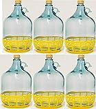 6 STÜCK 5L GLASBALLON mit Kunststoffkorb Weinballon GÄRBALLON GLASFLASCHE kostenlose Lieferung