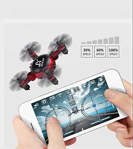 FYFY 2019 Drohne Guard für Anfänger, Drohne mit Kamera für Live Videos, tragbarer RC Quadcopter mit, Achsen Kopflos-Modus Höhe-Halten 3D-Flips und Rollen Spielzeug,Red