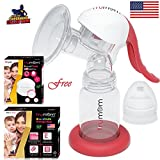#4: TRUMOM (USA) Manual comfort baby breastmilk breast pump ( Breastfeeding milk ) and TRUMOM breast pads (30 Pcs) and Breastmilk bags (30 pcs) FREE ! …