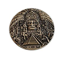 Huge Mayan Ancient Prophecy Stunning Rare Medallion Token Highly Detailed 3D Edition 80mm Diameter