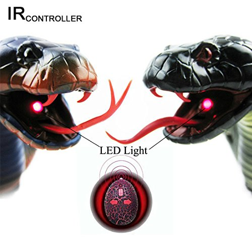 """DesignerBox 17/"""" Upgraded Long Rechargeable Remote Control RC Realistic RC Snake"""