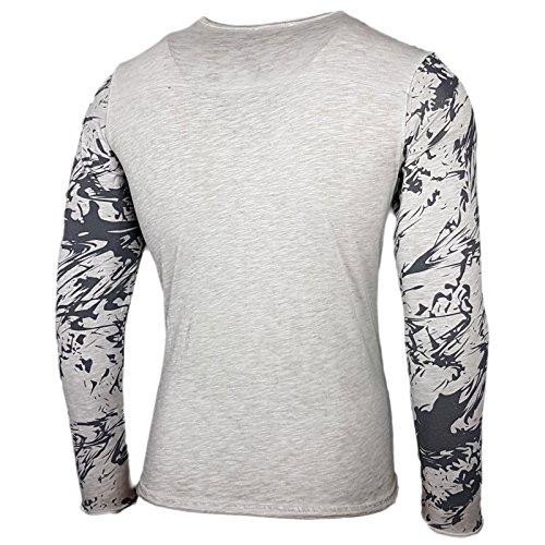 Rusty Neal Herren Longsleeve T-Shirt Langarmshirt Hemd Langarm Sweatshirt 10134 Grau