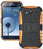 Heartly Armor Rugged Back Case For Samsung Galaxy Grand Duos I9082 / Galaxy Grand Neo Gt-I9060 / Galaxy Grand Neo Plus I9060I - Orange