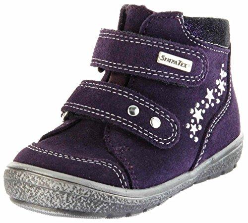Richter Kinder Lauflerner-Halbschuhe violett Velourleder Sympatex Klett Mädchen Schuhe 1533-831-7501 BlackBerry Star, Farbe:violett, Größe:28