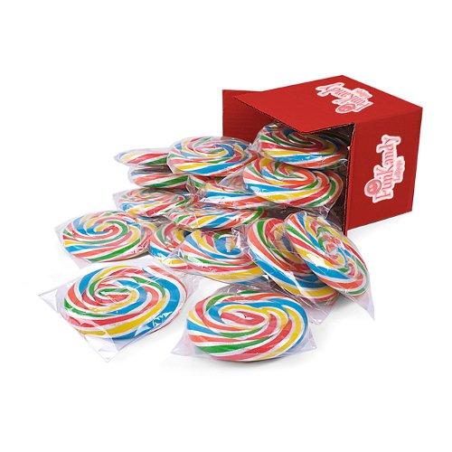 Code 0732/6 - Süßigkeiten Lutscher ~ Regenbogen lollies (Packung mit 24 x 180g)