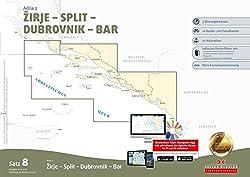 Sportbootkarten Satz 8: Adria 2 (Ausgabe 2017/2018): Zirje - Split - Dubrovnik - Bar