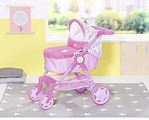 Zapf Creation 826386Born Baby Evolve 6en 1- Cochecito para muñecas, multicolor