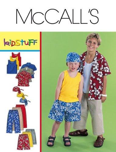 McCall's Sewing Pattern 3193 Boys' Shirt, Tank, Pants, Shorts & Headwrap, Y (3 4 5 6) by McCall's Headwrap Tank