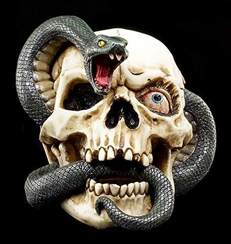 Totenkopf - Schlangen Schädel - Figur Horror Deko