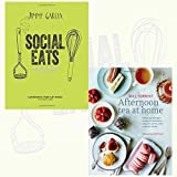 Social Eats and Afternoon Tea at Home 2 Books Bundle Collection - Food to Impress Your Mates,Deliciously indulgent recipes for sandwiches, savouries, scones, cakes and other fancies