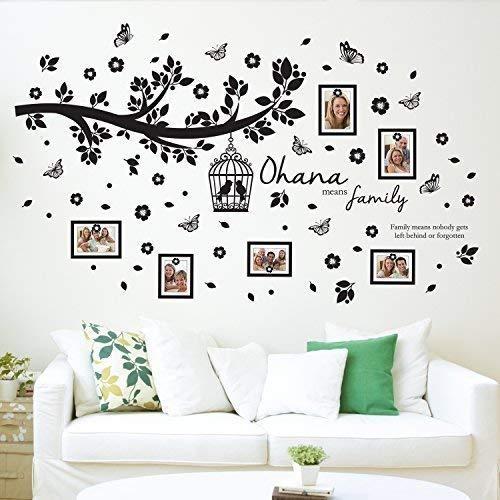 Walplus Wand Sticker Ohana Familie Baum Wandkunst Wandmalerei Entfernbarer selbstklebend Aufkleber Kinderzimmer Kindergarten Kinderzimmer Restaurant Café Hotel Wohndeko, bunt (Familie Baum-wand-aufkleber)