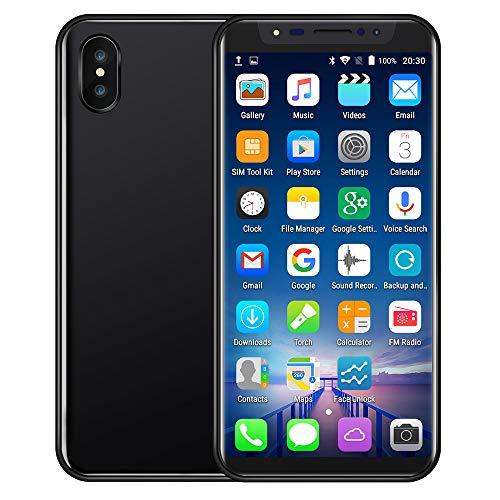 Oasics Smartphone, Neue Art und Weise 5,8 Zoll Doppel-HDCamera Smartphone Android IPS-GANZER Bildschirm GSM/WCDMA 4GB Touch Screen WiFi Bluetooth GPS 3G Anruf (Schwarz)