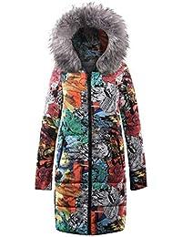 Tomatoa Damen Wintermantel Steppmantel Winter Mantel Winterjacke  Reißverschluss Übergröße Outwear Trenchcoat Lange Daunenjacke Jacke… 87198e3a02