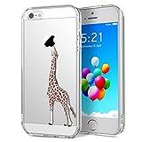 Yokata iPhone 5 / 5s / SE Hülle Durchsichtig Silikon mit Weich Bumper Klar Schutz Handyhülle Case Tasche - Amüsant Wu