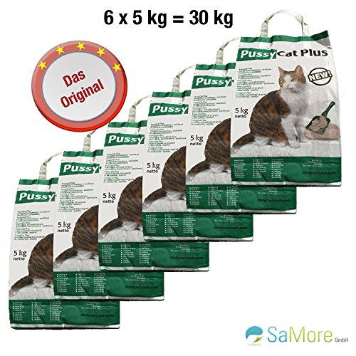 *6x5kg=30 kg PussyCat Plus Katzenstreu ohne Duft – kostenloser Versand innerhalb Deutschlands (außer Inseln)*