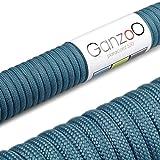 Paracord 550 Seil jeans-blau | 31 Meter Nylon-Seil mit 7 Kern-Stränge | für Armband | Knüpfen von Hunde-Leine oder Hunde-Halsband zum selber machen | Seil mit 4mm Stärke | Mehrzweck-Seil | Survival-Seil | Parachute Cord belastbar bis 250kg (550lbs) - Marke Ganzoo