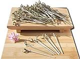 Lot de 100 brochettes à apéritif en bambou 10 cm