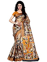 Being Banarasi Women's Raw Silk Floral Print Saree Without Blouse Piece(1005_P)