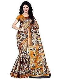 Being Banarasi Women's Raw Silk Floral Print Saree Without Blouse Piece(1005_P)