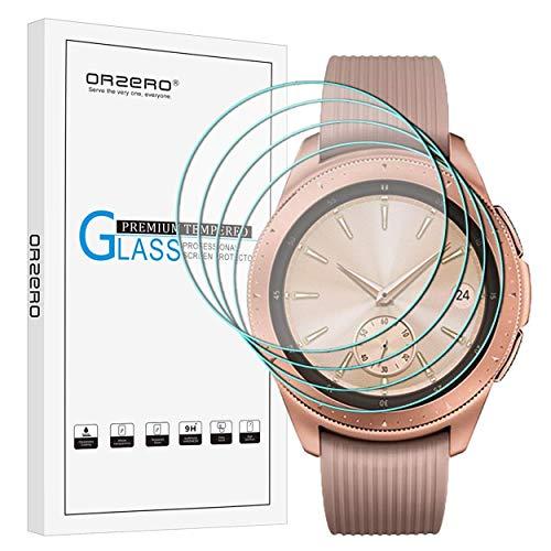 NEWZEROL [Lot de 4] pour Samsung Galaxy Watch 42 MM Film de Protection d'écran 2.5D Arc Edge 9 Dureté Haute Définition en Verre trempé