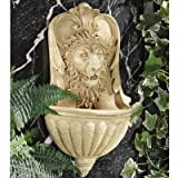 Design Toscano AH22740 Lion de la Villa Marchetti Fontaine murale Bronze 12,5 x 28 x 48,5 cm