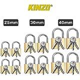Set 12 Cadenas KINZO 3 Clés Par Cadenas Porte Bahut Armoire Cabanon 25/30/40mm