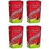 Lindt Lindor Cornet De 16 Boules Fondantes Au Chocolat Au Lait Pour Les Chocolats De Pâques 200 G - Lot De 4