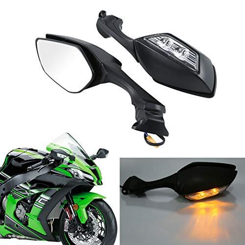Baedivg Motorrad Motorrad ABS Rückspiegel LED Blinker für Kawasaki, für Ninja ZX10R ZX-10R 2016-2018 - Ninja Kawasaki Clip