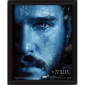 Game Of Thrones - Figura de Vinilo Poster 3D Jon Snow Vs. Night King 3