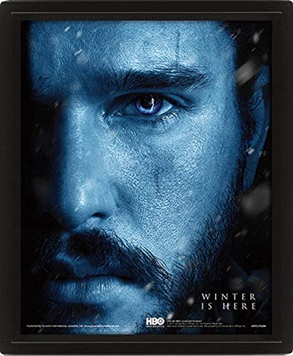 Game Of Thrones - Figura Vinilo Poster 3D Jon Snow